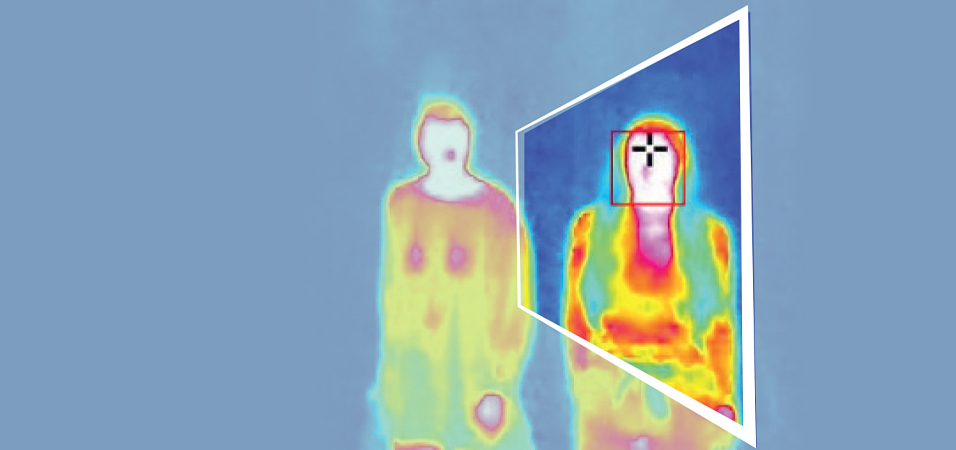 termo image of a person with mobotix termo camera
